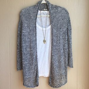 Eileen Fisher Open Knit Cotton Cardigan